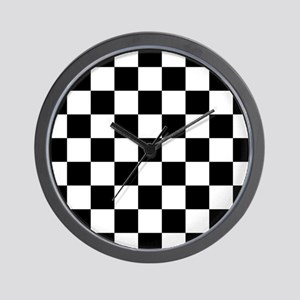 Black And White Checkered Wall Clock