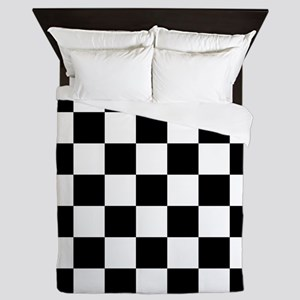 Black And White Checkered Queen Duvet