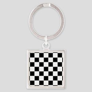 Black And White Checkered Keychains