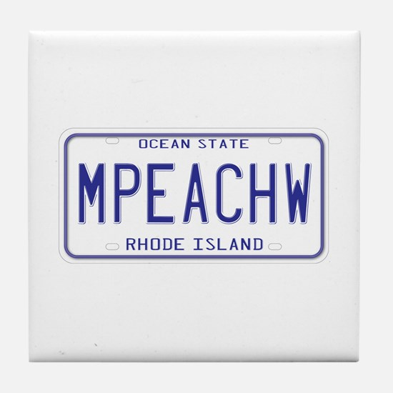 Rhode Island MPEACHW Tile Coaster