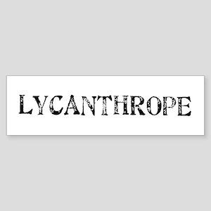 Lycanthrope Bumper Sticker