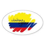 Colombiano Orgulloso Oval Sticker