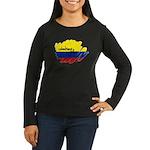 Colombiana Orgullosa Women's Long Sleeve Dark T-Sh