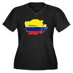 Colombiana Orgullosa Women's Plus Size V-Neck Dark