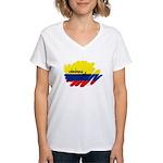 Colombiana Orgullosa Women's V-Neck T-Shirt