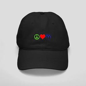 PEACE, LOVE, FLIP-FLOPS (THONGS) Black Cap