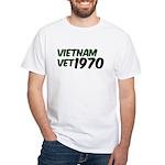 Vietnam Vet 1970 White T-Shirt