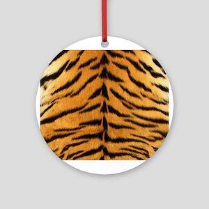Tiger Fur Print Ornament (Round)