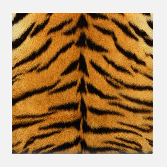 Tiger Fur Print Tile Coaster