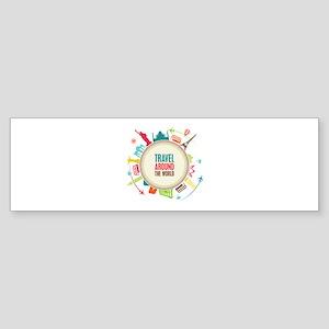 Travel around the world Sticker (Bumper)