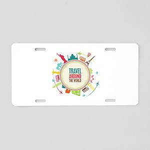 Travel around the world Aluminum License Plate
