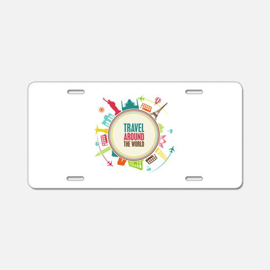 Travel around the world Aluminum License Plate