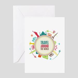 Travel around the world Greeting Card