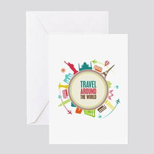 Travel around the world greeting cards cafepress travel around the world greeting card m4hsunfo
