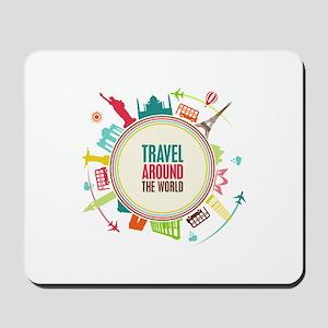 Travel around the world Mousepad