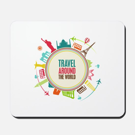 Travel around the world Mousepad