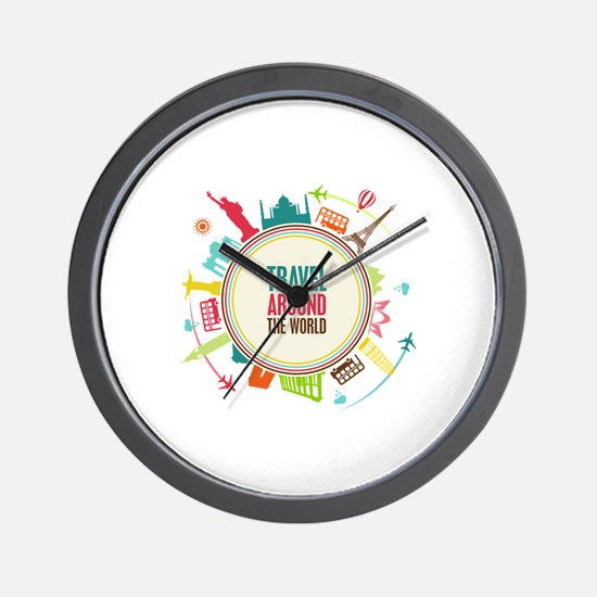 Travel around the world Wall Clock