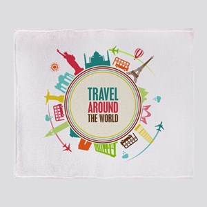 Travel around the world Stadium Blanket