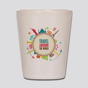 Travel around the world Shot Glass
