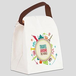 Travel around the world Canvas Lunch Bag