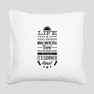 Summer time Square Canvas Pillow