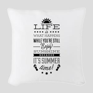 Summer time Woven Throw Pillow