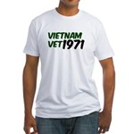 Vietnam Vet 1971 Fitted T-Shirt