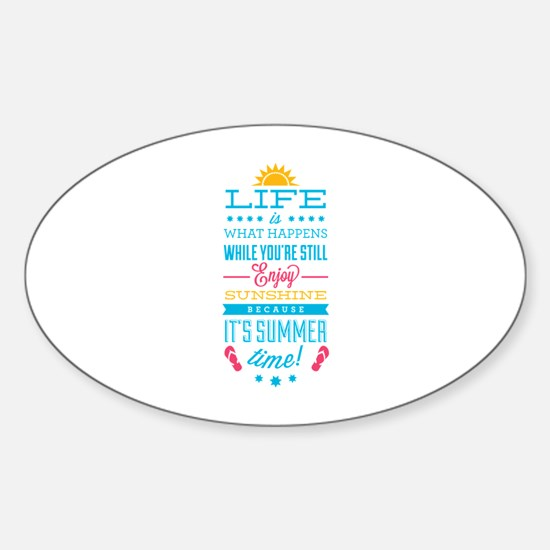 Summer time Sticker (Oval)