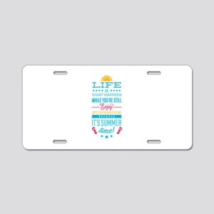 Summer time Aluminum License Plate