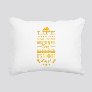 Summer time Rectangular Canvas Pillow