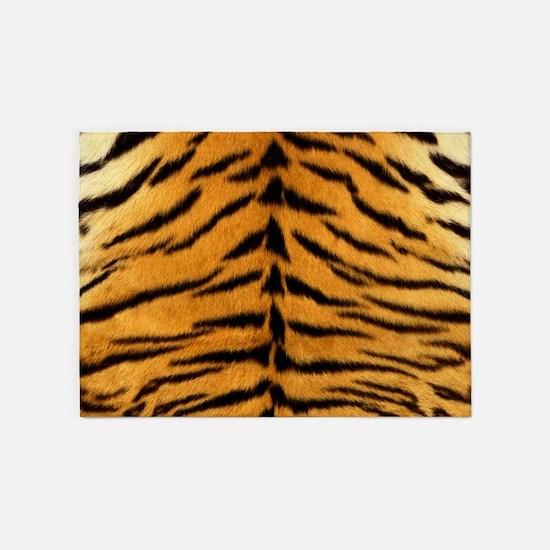 Tiger Fur Print 5'x7'Area Rug