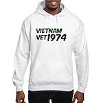 Vietnam Vet 1974 Hooded Sweatshirt