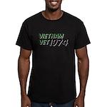 Vietnam Vet 1974 Men's Fitted T-Shirt (dark)