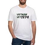 Vietnam Vet 1974 Fitted T-Shirt