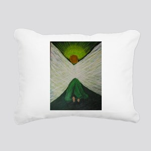 Green Angel Rahael Rectangular Canvas Pillow