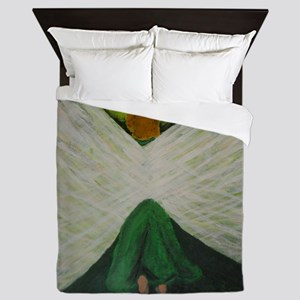 Green Angel Rahael Queen Duvet