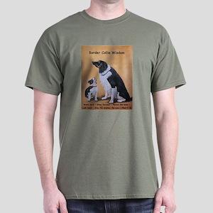 Border Collie Wisdom Dark T-Shirt