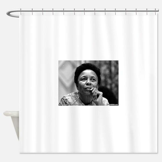 Dr Margaret Burroughs B/W Shower Curtain