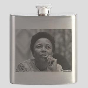 Dr Margaret Burroughs B/W Flask