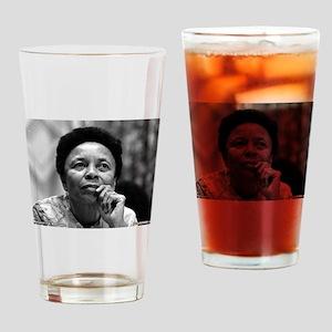 Dr Margaret Burroughs B/W Drinking Glass