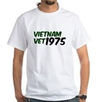 Vietnam Vet 1975 White T-Shirt