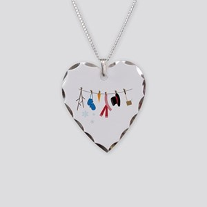 Snowman Clothing Necklace