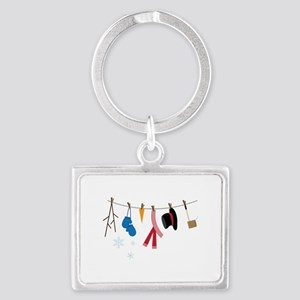 Snowman Clothing Keychains