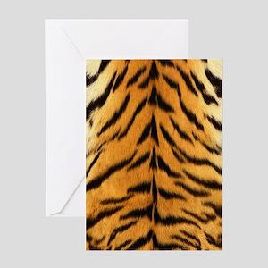 Tiger Fur Print Greeting Cards