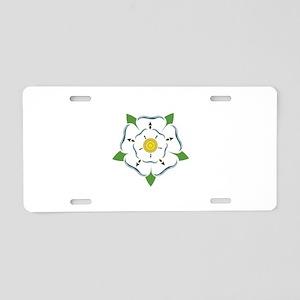 Heraldic Rose Aluminum License Plate