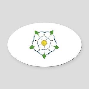 Heraldic Rose Oval Car Magnet