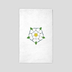 Heraldic Rose 3'x5' Area Rug