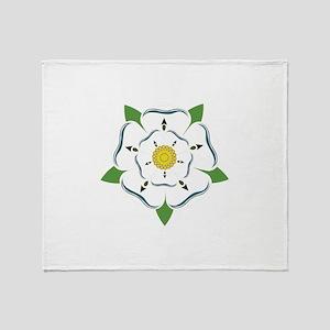 Heraldic Rose Throw Blanket