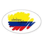 Colombiana Orgullosa Oval Sticker