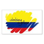 Colombiana Orgullosa Rectangle Sticker